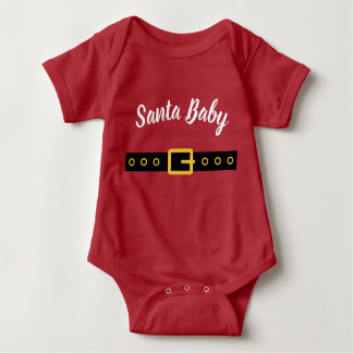 Santa Baby bodysuit outfit for newborn boy or girl