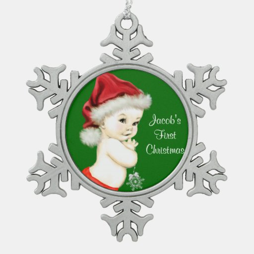 Santa Baby Boys 1st Christmas Ornament