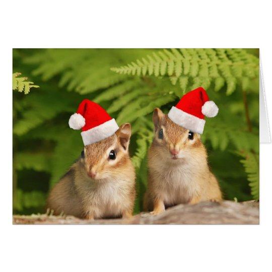 Santa Baby Chipmunks Card