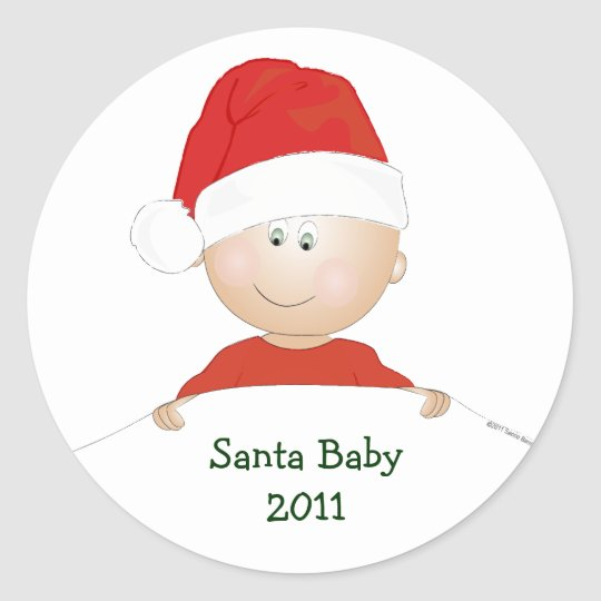 """Santa Baby"" Christmas Baby Shower Stickers"