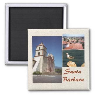 Santa Barbara 3 Photo Magnet Template