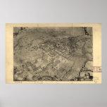 Santa Barbara California 1896 Panoramic Map Poster