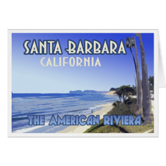 Santa Barbara California Butterfly Beach Souvenir Card