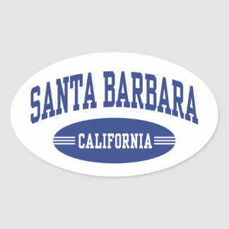 Santa Barbara California Oval Sticker