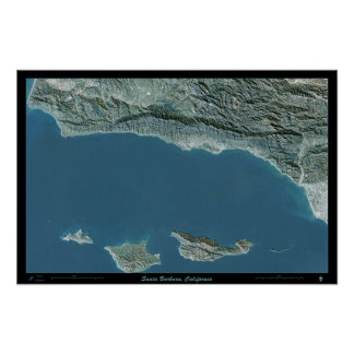 Santa Barbara, California satellite poster photo