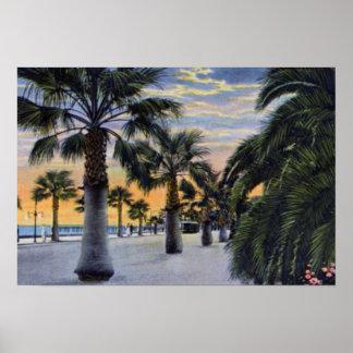 Santa Barbara California Seaside Boulevard Poster