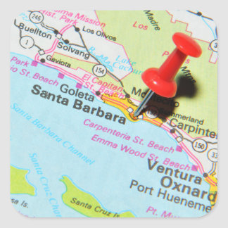 Santa Barbara, California Square Sticker