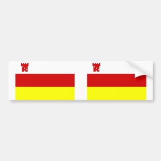 Santa Barbara, California, United States flag Bumper Sticker