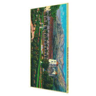 Santa Barbara Mission and Grounds Stretched Canvas Prints