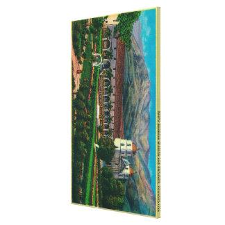 Santa Barbara Mission and Grounds Canvas Prints
