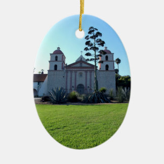 Santa Barbara Mission Ceramic Ornament