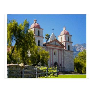 Santa Barbara Mission Postcard