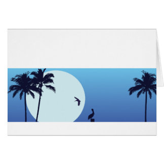 Santa Barbara Moonrise Customizable Notecard