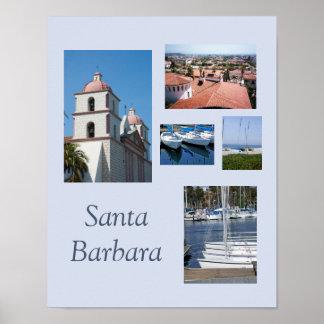 Santa Barbara Photo Gallery Template Poster