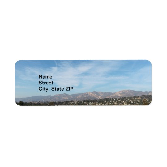 Santa Barbara Return Address Label