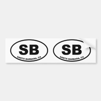 Santa Barbara SB Bumper Sticker