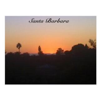 Santa Barbara Sunset Postcard