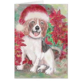 Santa Beagle Card