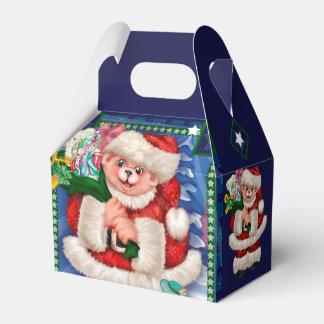 SANTA BEAR CHRISTMAS CARTOON Gable Favor Box 2