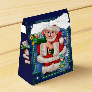 SANTA BEAR CHRISTMAS CARTOON Tent Favor Box 2