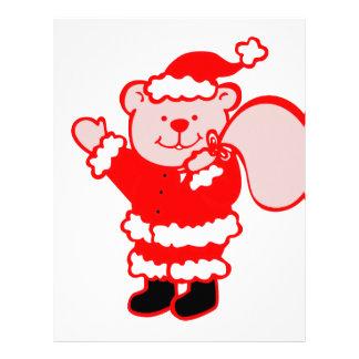 Santa Bear Letterhead Design
