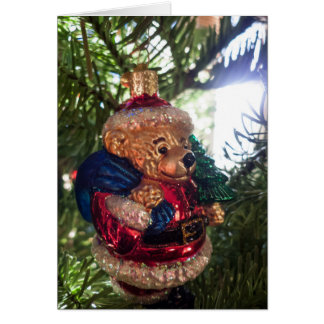 Santa Bear Ornament Card
