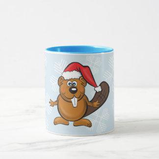 Santa beaver mug