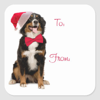 Santa Berner Gift Labels Square Sticker