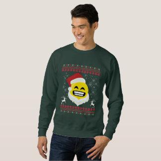 Santa Big Smile Emoji  TIshirt Ugly Christmas Sweatshirt
