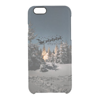Santa bless you this Christmas Happiness love joy Clear iPhone 6/6S Case