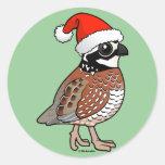 Santa Bobwhite Stickers