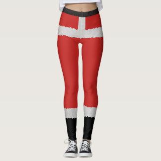 Santa Boots Mrs. Claus Christmas Holiday Leggings