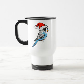 Santa Budgie Blue Travel Mug