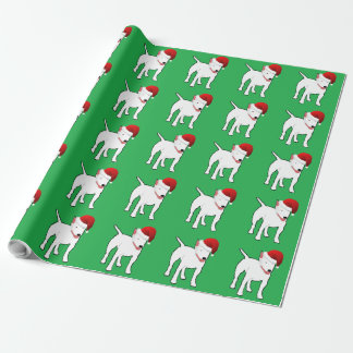 Santa Bull Terrier Wrapping Paper