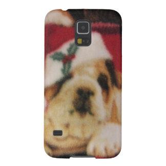 Santa Bulldog Galaxy S5 Cases