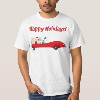 santa car mobile tshirt