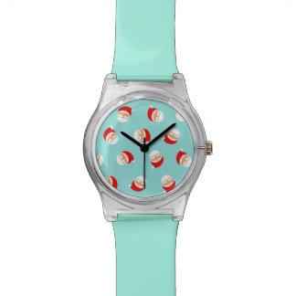 Santa Cartoon Cute Funny Pattern Chic Trendy Cool Watch