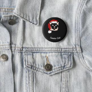 Santa Cat 2 Inch Round Button