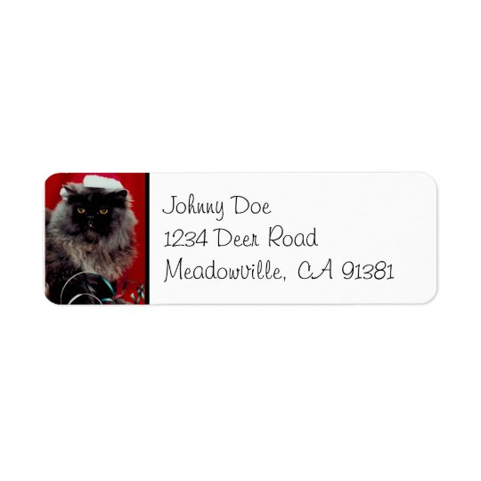 Santa Cat Christmas Avery Label Return Address Label