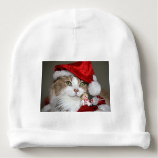 Santa cat - christmas cat - cute kittens baby beanie