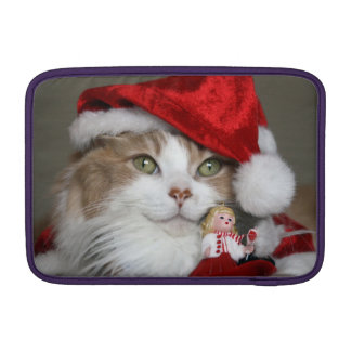 Santa cat - christmas cat - cute kittens sleeve for MacBook air