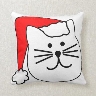 Santa Cat Christmas Pillow