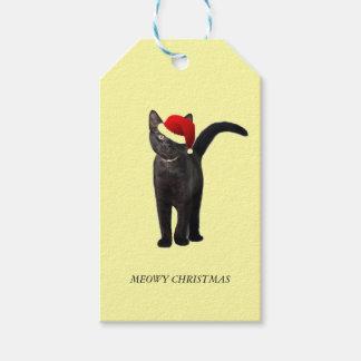 Santa Cat Gift Tags