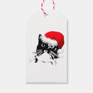 Santa Cat Gift Tags Pack Of Gift Tags