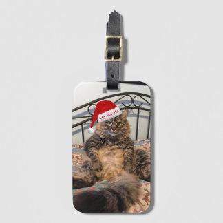 Santa Cat Luggage Tag