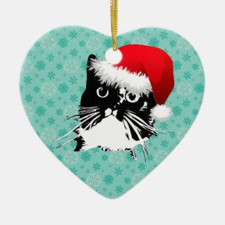 Santa Cat Ornament