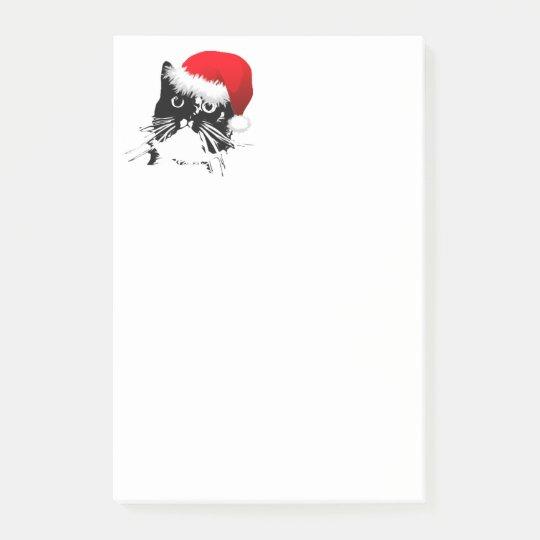 Santa Cat Post-It notes