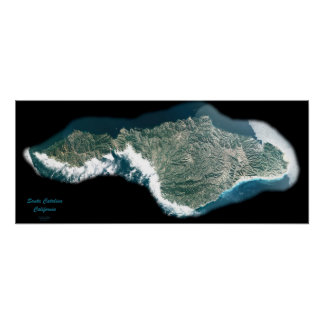 Santa Catalina, California satellite poster photo