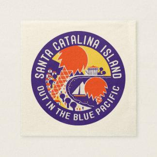 Santa Catalina Island Vintage Design Paper Napkins