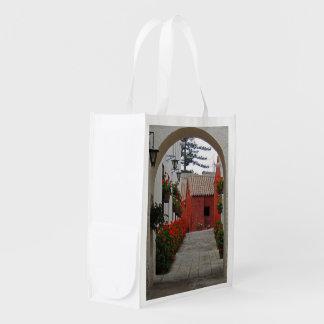 Santa Catalina Monastery in Arequipa Peru Reusable Grocery Bag